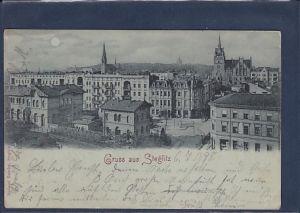 Mondschein AK Gruss aus Steglitz 1898
