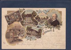 Litho AK Gruss aus Schönhausen 6.Ansichten Bismarck 1899