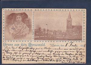 AK Gruss aus dem Spreewald  Werben, den 8.Juli 1898