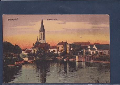 AK Emmerich Hafenpartie 1920