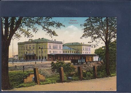 AK Hanau Ostbahnhof 1917