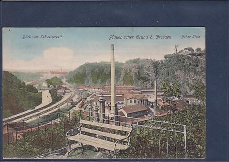 AK Plauen´scher Grund b. Dresden Blick vom Schweizerbett 1918