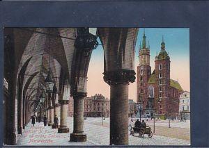 AK Krakow Kosciot N. Panny Maryi od stony Sukiennic - Marienkirche 1915