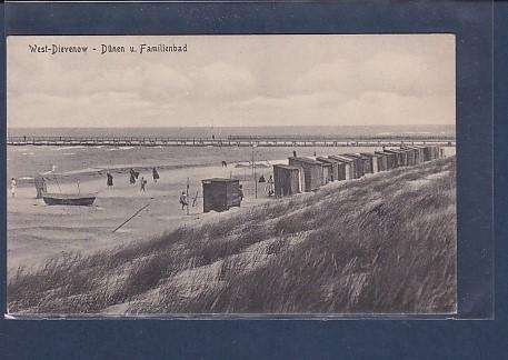 AK West Dievenow - Dünen u. Familienbad 1929