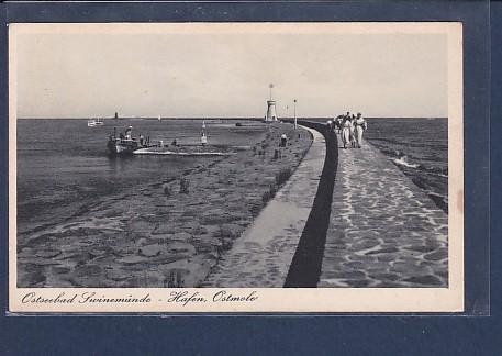 AK Ostseebad Swinemünde - Hafen Ostmole 1930