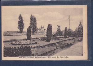 AK See- und Soolbad Swinemünde Blick nach der Seebrücke 1930