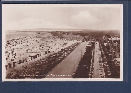 AK See- u. Solbad Swinemünde Strandpromenade 1930
