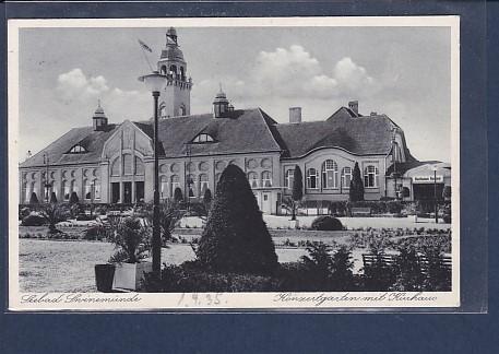 AK Seebad Swinemünde Konzertgarten mit Kurhaus 1935