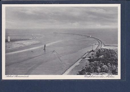 AK Seebad Swinemünde Einfahrt in die Molen 1930