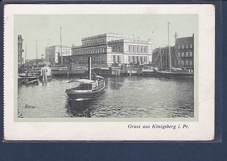 AK Gruss aus Königsberg i.Pr. Börse 1920