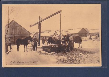AK An der Pferdetränke in Kolno 1920