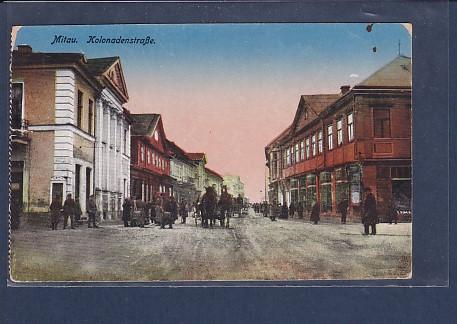 AK Mitau Kolonadenstraße 1941