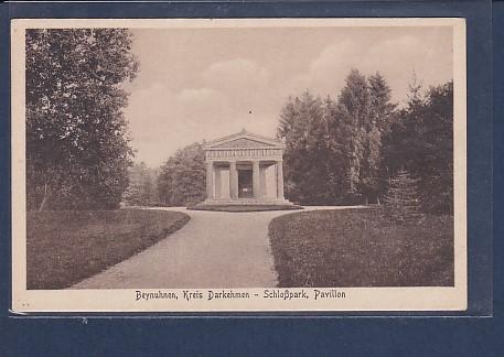 AK Beynuhnen, Kreis Darkehmen - Schloßpark Pavillon 1930