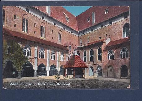 AK Marienburg Wpr. Hochschloss Kreuzhof 1920