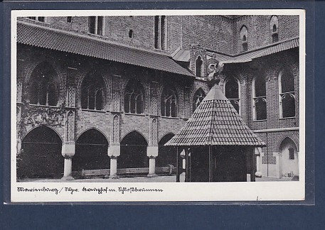 AK Marienburg / Wpr. Kreuzhof m. Schloßbrunnen 1930