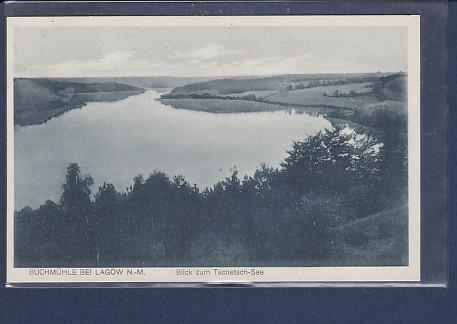 AK Buchmühle bei Lagow Blick zum Tschetsch See 1929