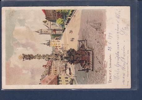 AK Teplitz Schlossplatz 1899