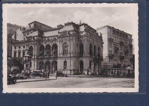 AK Weltbad Karlsbad Stadttheater mit Regina Palast Hotel 1942