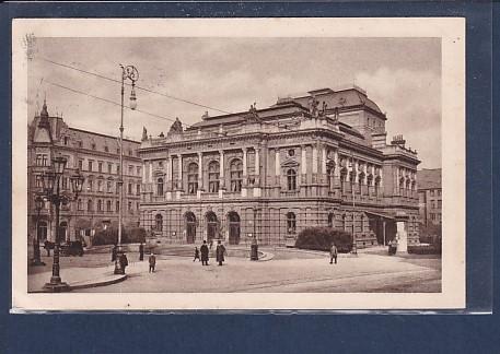 AK Reichenberg - Theater mit Cafe Post 1914