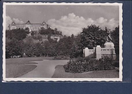 AK Karlsbad Hotel Imperial mit Beethovendenkmal 1940