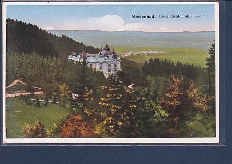 AK Marienbad Hotel Schloß Miramonti 1933