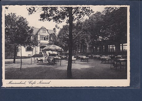 AK Marienbad Cafe Nimrod 1931