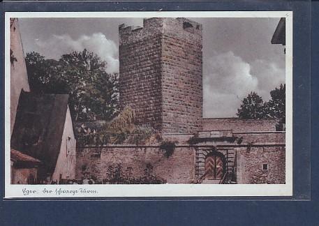 AK Eger Der Schwarze Turm 1940