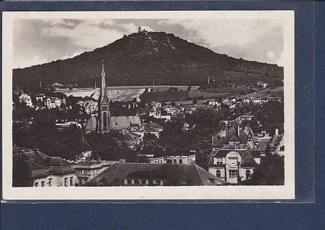 AK Teplice - Pohled na hrad Doubravku 1940