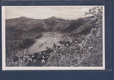 AK Das Elbetal bei Salesel mit Dubitzer Kirchlein 1930