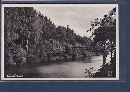 AK Neißepartie m. Laufsteg am Bahnhof Rohnau 1951