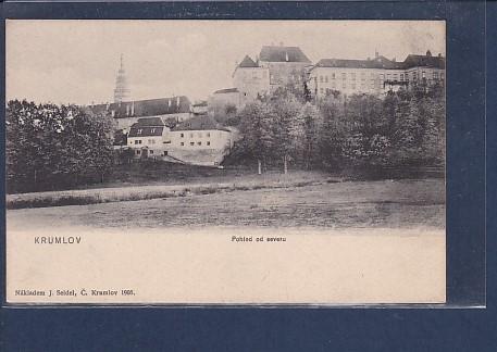 AK Krumlov Pohled od severu 1905