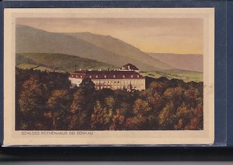 AK Schloss Rothenhaus bei Görkau 1938