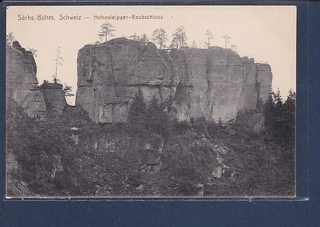 AK Sächs.-Böhm. Schweiz - Hohenleipaer-Raubschloss 1930