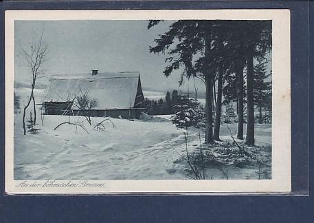 AK An der böhmischen Grenze 1940