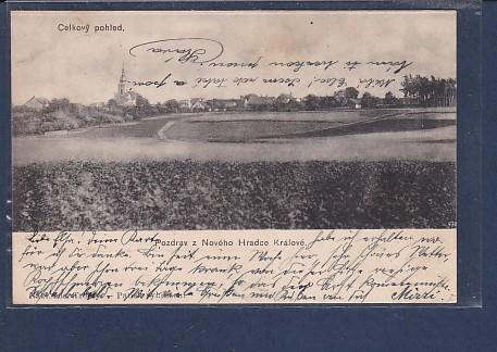 AK Pozdrav z Neveho Hradce Kralove Celkovy pohled 1910