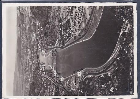 AK Das Elbtal bei Wannow Schreckenstein 1940