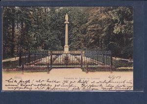 AK Tegel Ruhestätte der Familie von Humboldt 1903