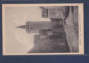 AK Bernau i. Mark Stadtmauer mit Pulverturm 1930