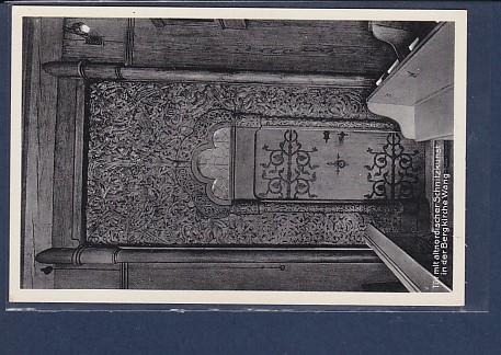 AK Tür mit altnordischer Schnitzkunst in der Bergkirche Wang 1940