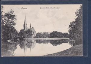 AK Leipzig Johanna Park mit Lutherkirche 1907