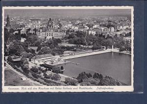 AK Hannover Blick auf den Maschsee mit Neues Rathaus und Marktkirche Luftaufnahme 1960