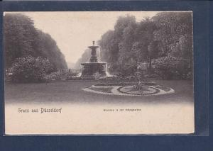 AK Gruss aus Düsseldorf Brunnen in der Königsallee 1920