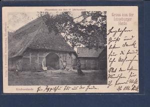 AK Gruss aus der Lüneburger Heide Kirchwalsede 1904