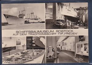 AK Schiffsbaumuseum Rostock Auf dem Traditionsschiff Typ Frieden 1974