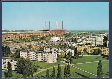 AK Wolfsburg Blick vom Hochhaus Cafe 1974 0