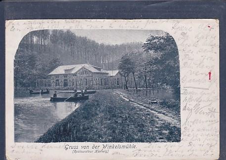 AK Gruss von der Winkelsmühle (Restaurateur Hertwig) 1901 0