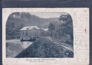AK Gruss von der Winkelsmühle (Restaurateur Hertwig) 1901