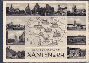 AK Siegfriedstadt Xanten a.Rh. 10.Ansichten Berufsschule 1960