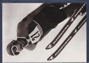 AK Henry Glaß Bronzemedaille im Spezialsprunglauf Große Schanze 1976