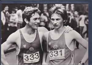 AK Jörg Peter u. Michael Heilmann Sieger und Zweitplazierter beim Marathonlauf 1984